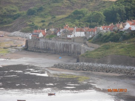View of Robin Hood's Bay from cliff walk