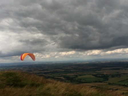 Paraglider on Cleveland escarpment
