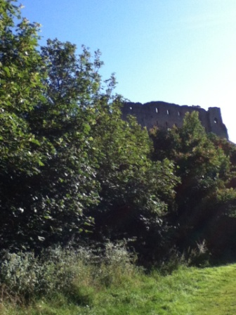 View of Richmond castle from over the Swale