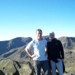 Me and Dave loving it at the top